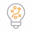 idea, innovation, planning, strategy, tactic icon