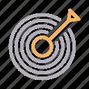 business, focus, goal, success, target icon