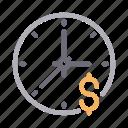 clock, deadline, finance, schedule, time icon