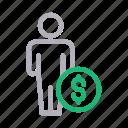 account, avatar, dollar, profile, user icon
