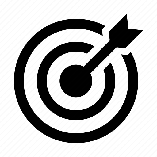 achieve, aim, bullseye, business, darboard, focus, goal, marketing, target icon