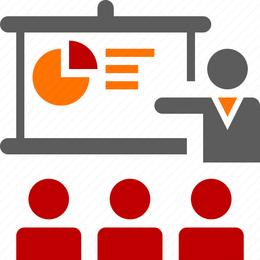 audience, man, presentation, seminar, suit, training, workshop icon