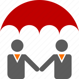 commitment, insurance, protection, red, safety, security, umbrella icon