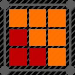 business, concept, design, graphic, grid, square icon
