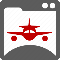 landing, page, plane, website icon