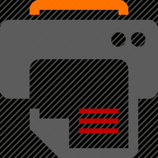 document, paper, print, printer, production icon