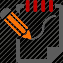 clipboard, design, graph, sketch icon