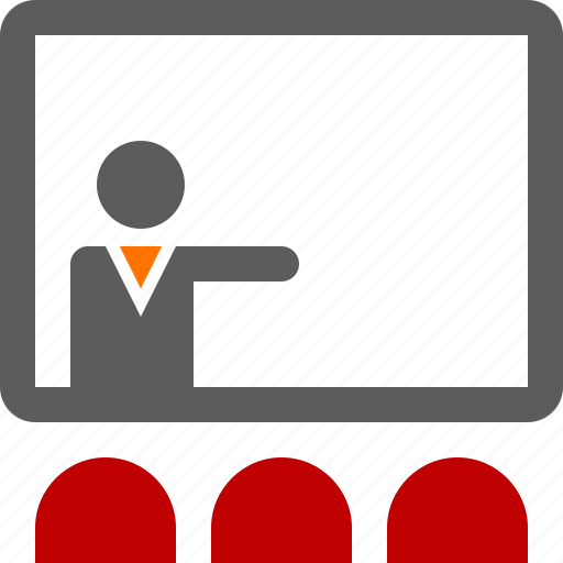 Training, meeting, presentation icon