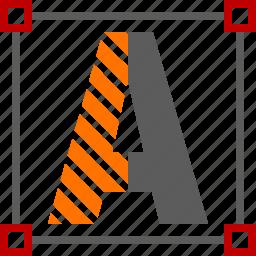 text, typography icon