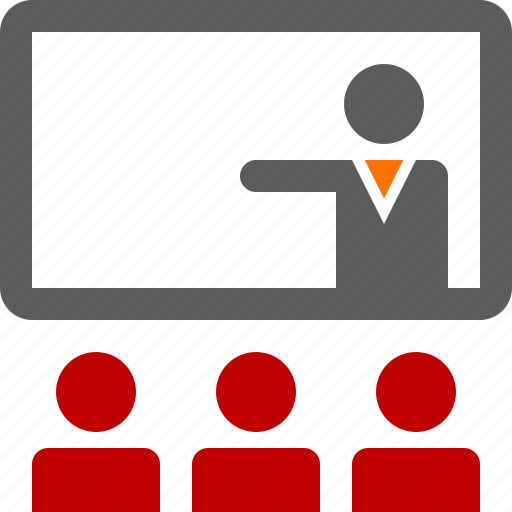 audience, man, presentation, seminar, suit, training, workshop icon