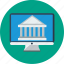 banking, desktop, money trasnfer, online, online banking icon