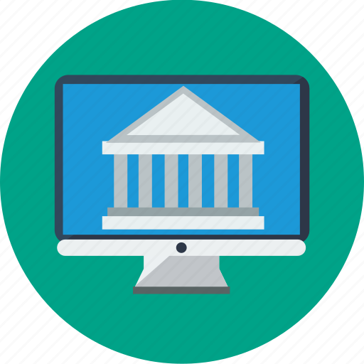banking, desktop, money trasnfer, online, online banking icon