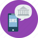 banking, mobile, mobile banking, smartphone, sms, sms banking icon