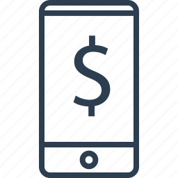 banking, cell, dollar, money, phone, wealth icon