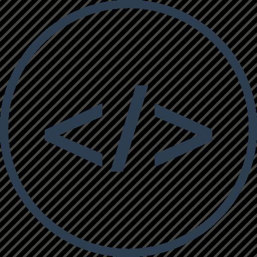 code, computer, language, program, script icon
