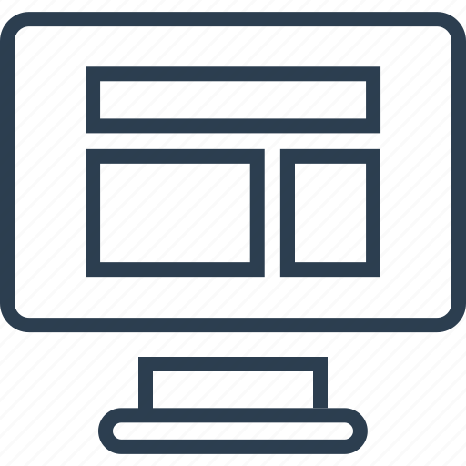computer, mac, mockup, screen, wireframe icon