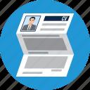 applicant, contract, cv, document, job, portfolio, resume