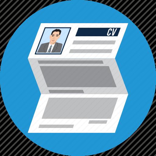 applicant, contract, cv, document, job, portfolio, resume icon