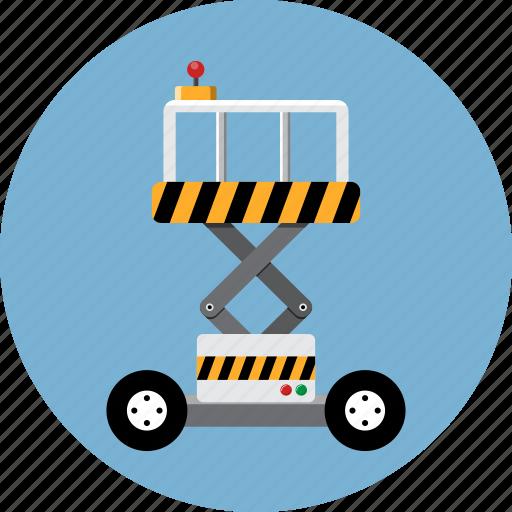 elevator, hoist, lift, logistic, platform, scissor, service icon