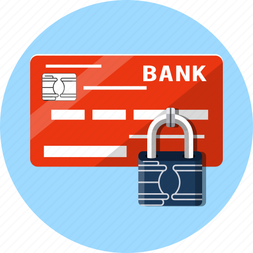 card, debit, finance, microchip, padlock, payments, secure icon