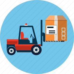 distribution, equipment, forklift, loader, logistic, vehicle, warehouse icon