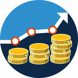 business, chart, finance, graph, growth, increase, money icon