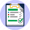 agreement, checklist, choice, feedback, notepad, ok, tick icon