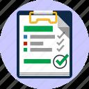 agreement, checklist, choice, feedback, notepad, ok, tick