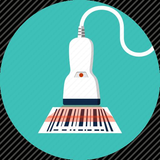 barcode, logistics, price, reader, scaner, shopping, tool icon