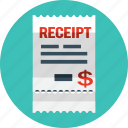 bill, coupon, marketing, money, receipt, shop icon