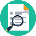 document, file, magnifier, search, zoom