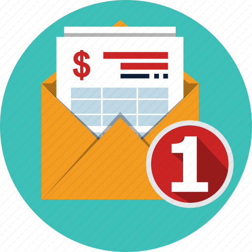 email, finance, invoice, letter, send, taxes icon