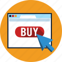 arrow, buy, cursor, monitor, online, service, shop icon