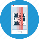 code, mobile, online, qr code, reader, service, smartphone icon