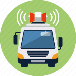 amplifier, commerce, logistic, loudspeaker, publicity, truck, van icon