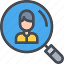 account, career, cv, human, profile, resource, user icon