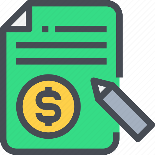 bill, business, invoice, money, payment, receipt icon