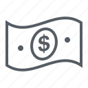 banknote, cash, currency, dollar, finance, money icon