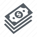 banking, banknote, finance, money, payment, stack icon