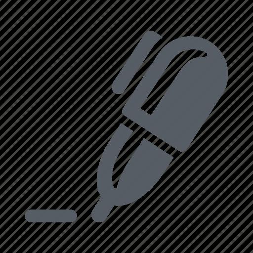 ballpoint, pen, sign, write icon