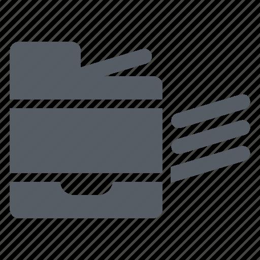 digital, equipment, office, paper, printer, tray icon