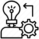 creativity, idea generate, imagination, innovation, inspiration icon