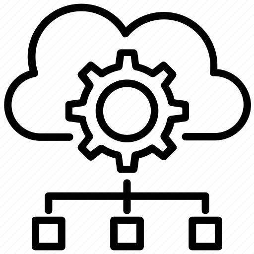 cloud computing, cloud hierarchy, cloud network, data access, data backup icon