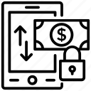 money locked, money protection, money security, secure investment, secure transaction icon