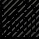 bar chart, bar diagram, bar graph, graph up, growth chart icon
