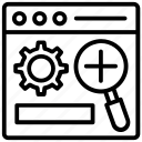 action processing, function, search system, system operation, system work icon
