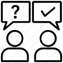 ask questions, good response, question solution, questions and answers, reply icon
