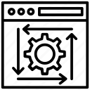 action processing, function, system operation, system work, under process icon