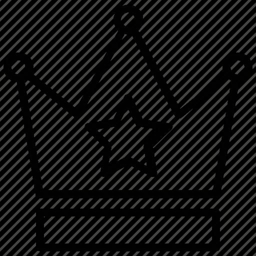 crown headwear, kingdom, nobility, royal crown, star crown icon