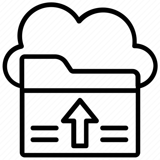 cloud data, cloud drive, cloud network, cloud storage, cloud uploading icon